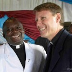 Tim with the Head Pastor After Preaching at his Church in Goma, D.R. Congo